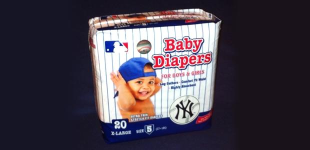 MLB team baby diapers take a big swing