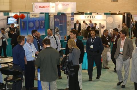 A scene from the Filtration 2012 show floor.