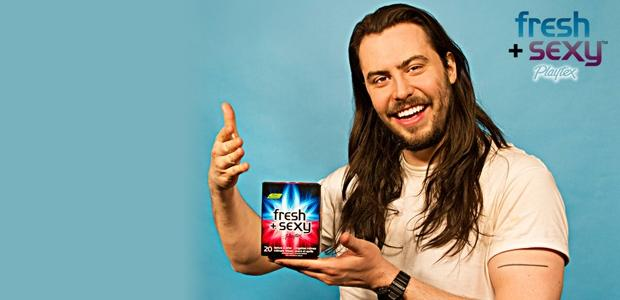 "Playtex Names Andrew W.K. The Face Of ""Fresh + Sexy"" Wipes"