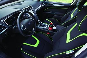 PlantBottle Technology from The Coca-Cola Company is applied for the first time beyond PET packaging as part of the interior fabric of a Ford Fusion Energi.