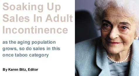 Adult Incontinence Soaks Up Sales