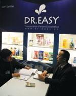 Dr. Easy, from China, featured take-along packs of wipes.